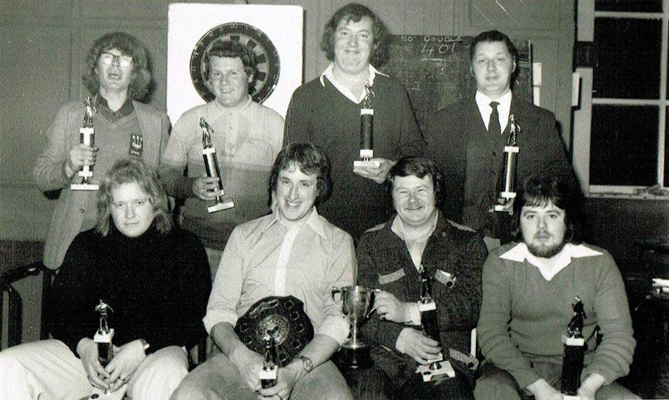The Darts Team circa 1970